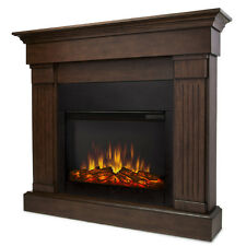 Real Flame 8020E-CO Crawford Slim Line Electric Fireplace in Chestnut Oak NEW