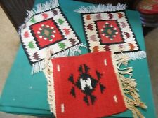 """Great Collectible Set of 3 Southwestern """"Mini"""" Rugs with Fringe.Sale"""