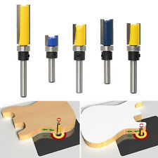 "Flush Trim Bit 1/4"" Shank Router Bit Bearing Cutting Edge Woodworking Flute 1X"