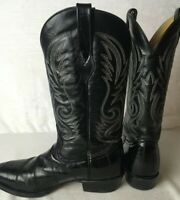 CORRAL MENS 9.5EE EXOTIC GENUINE EEL SKIN LEATHER ROUND TOE WESTERN COWBOY BOOTS