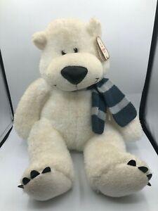 Official Aurora World White Teddy Polar Bear Scarf Plush Kids Stuffed Toy Animal