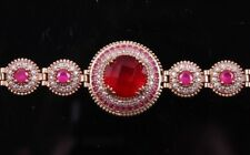RUBY RED Turkish Handmade Jewelry 925 Sterling Silver Woman Ladies Bracelets 2