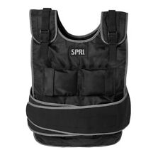 SPRI 20lb Weighted Vest Adjustable Weight Sweat Resistant W/ Guide