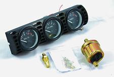 BMW E30 Zusatzinstrumente Halter 3x 52mm inkl. Anzeigen + Sensoren Öl Temp Druck