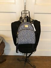 MICHAEL by MICHAEL KORS ABBEY XS BACK PAK NAVY LEATHER FLOWERS AUTHENTICITY CARD
