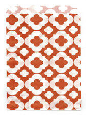 25 Pcs Orange Flower Pattern 5x7 Print Paper Gift Bags Favor Candy Shop