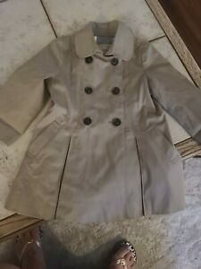 Authentic BURBERRY pre-owned  Girls, Toddler Trench Coat Cotton Size 2y