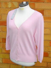 Marks and Spencer 3/4 Sleeve V Neck Button Women's Jumpers & Cardigans