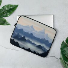 Misty Mountains Laptop Sleeve Cover Blue