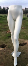 """Female Plastic Mannequin Leg Form - Height 43"""" - With Base"""