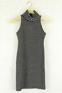 American Apparel Black And White Striped Bodycon Dress S by Reluv Clothing