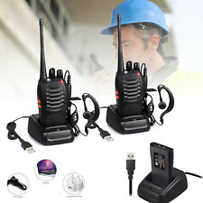 2PCS Two Way Walkie Talkie BF-888S Radio Handheld Portable UHF400-470MHz 16CH