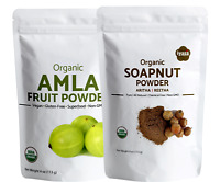 Organic AMLA ARITHA(Soapnut)Powder Combo | Hair Cleaner Conditioner | 2x4 oz pk