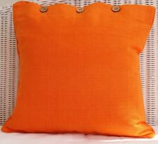 "CUSHION COVER - ""CITRUS ORANGE"" 40 X 40CM COUCH, THROW PILLOW COVER"