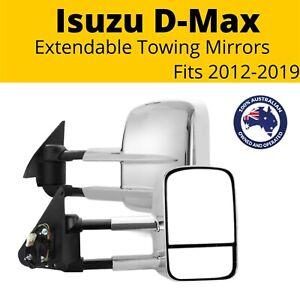 Extendable Towing Mirrors ISUZU D-Max 2012 - 2019 Chrome Electric Pair Mux Dmax