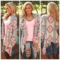 NEW Women Lady Cardigan Loose Sweater Knitted Cardigan Outwear Jacket Coat