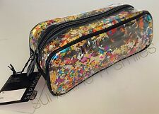 Sephora LET'S DISCO CONFETTI Clear Travel Cosmetic Brush Bag Pouch Pencil Case