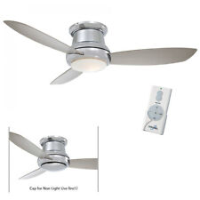 "Minka Aire F519L-PN Polished Nickel Silver Concept II 52"" Ceiling Fan w/Remote"