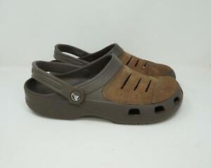 Crocs Yukon Clog Brown Men's Size 10 With Heel Strap Crocs