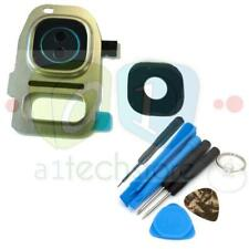 Gold Genuine Glass Camera Lens Cover Frame For Samsung Galaxy S7 & EDGE + Tools