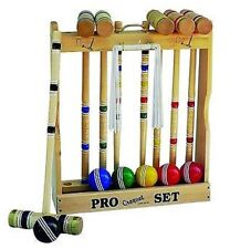 "CROQUET SET & CADDY 6 Player 28""  Executive Maple & Brass Amish Handmade USA"
