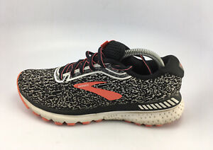 Brooks Women's Adrenaline GTS 20 Running Shoes Black/White/Fiery Coral Sz 9.5 B