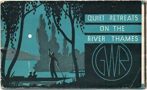 Great Western Railway Brochure - Quiet Retreats On The River Thames. 1930s.