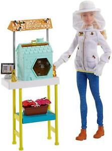 "BARBIE CAREERS BEEKEEPER 12"" DOLL WITH ACCESSORIES BLONDE BRAND NEW"