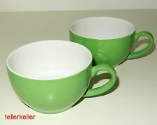 Dibbern Solid Color 2 x Kaffeetasse OHNE Untertasse Apfelgrün Ø 9,5 / H 5,5
