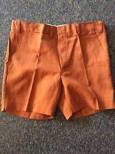 Vintage Retro Original Rockabilly Hipster Dude Orange Shorts 70's 1970s New