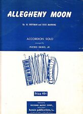 Allegheny Moon Pietro Deiro Jr. 1956 Accordion Sheet Music