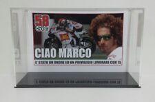 MARCO SIMONCELLI VETRINA - TECA PLEXIGLASS 1/12 PER MOTO HONDA 2011 MINICHAMPS