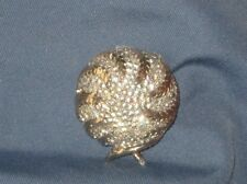 Vintage Signed JOMAZ Gold-Tone Metal Clear Rhinestone Pin Brooch