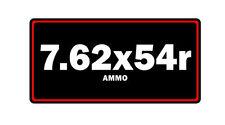 7.62x54r ammo label can vinyl sticker decal bumper gun rifle bullet glock ar15