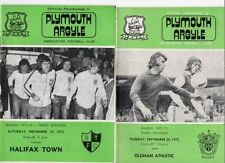 Teams O-R Plymouth Argyle Football League Fixture Programmes