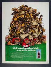 1973 Dr Pepper football players color art vintage print Ad