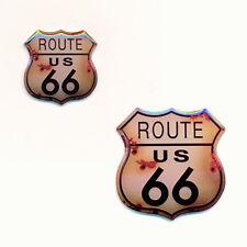 2 Route 66 USA Mainstreet Mother Road Nostalgie Retro Edel Pin Anstecker 0593/94