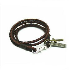 New Fashion PU Leather Rope Bracelet Cross Punk Brown 7 Black Leather Free Ship