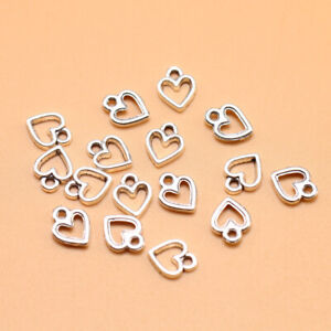 20pcs Charms Heart 9*11mm Tibetan Antique Pendants Antique Jewelry Making