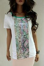 MARCCAIN Damen Shirt Baumwolle N5 N6 44 XL XXL Pailletten Top