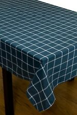 Grids tablecloth rectangle square dinning tablecloth daily use -blue