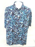 CUBAVERA Men Hawaiian ALOHA shirt pit to pit 29.5 2X tropical camp rayon luau