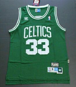 Retro Larry Bird #33 Boston Celtics Swingman Basketball Jersey Stitched Green