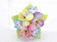 VTG ARTONE Fine Bone China ENGLISH Pastel Porcelain Flower Pin Brooch