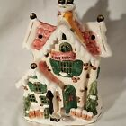 """Cozy Corner Ceramic Tea Light Potpourri Multi Colored House Tea Light Candle 8"""""""