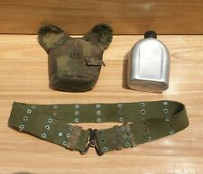 MILLITARY BELT CANTEEN ARMY SURPLUS CAMMO  POUCH COVER BOTTLE