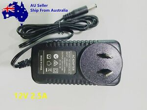 12V 2.5A AC/DC Power Supply Cord 2.5 Amp 12 Volt Adapter Charger AU Stock
