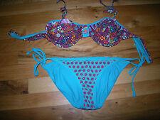 Nice Juniors Green & Purple Target Bikini, Size S