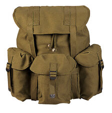 New Olive Drab Heavyweight Canvas Frameless Mini Alice Pack Backpack 13 X 16 X 7