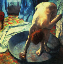 EDGAR DEGAS :: AFTER THE BATH ( THE TUB ) :: 24 INCH CANVAS FINE ART PRINT